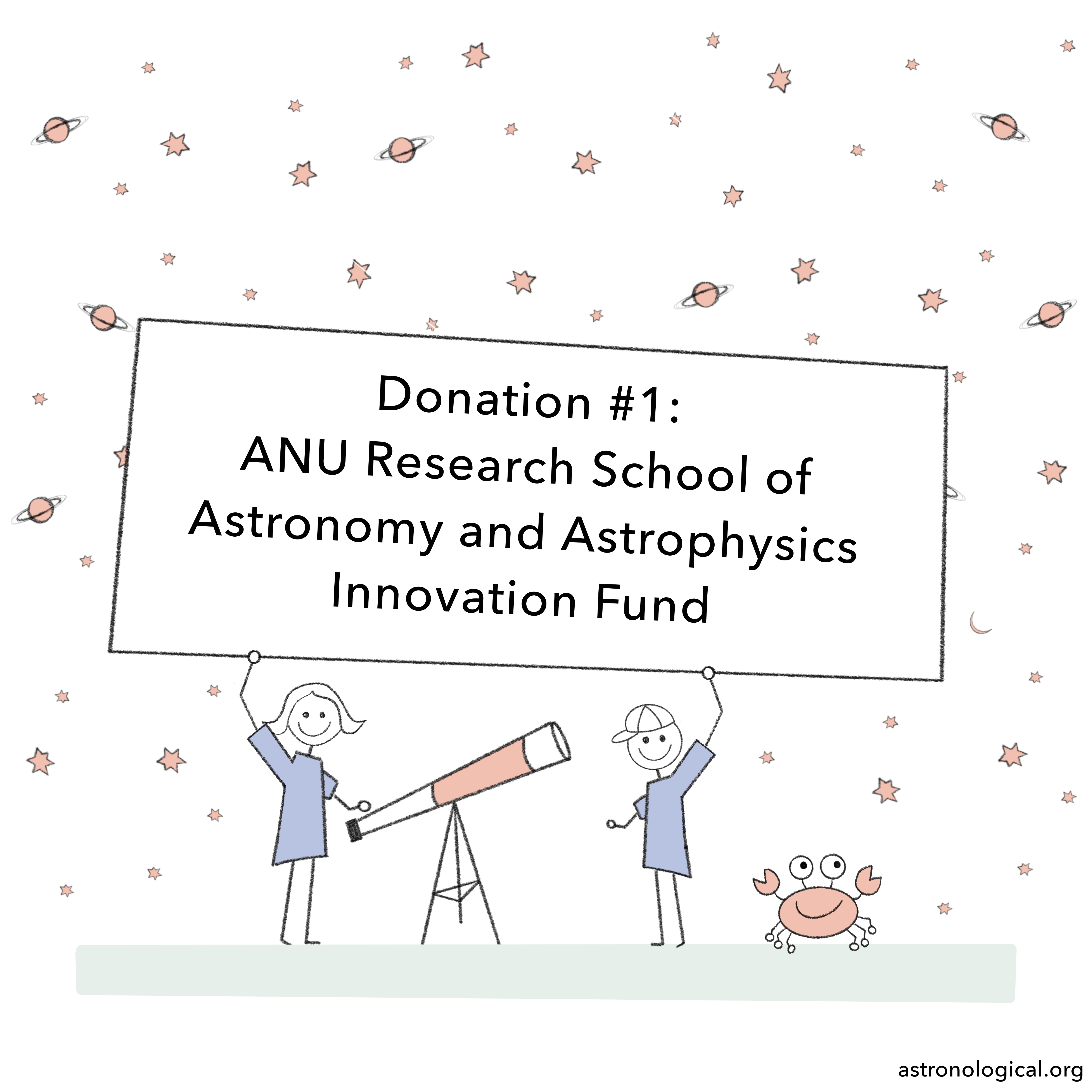 Donation #1: ANU Research School of Astronomy and Astrophysics Innovation Fund